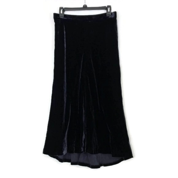 Nordstrom Signature Dresses & Skirts - Nordstrom Signature Deep Navy Velvet Long Skirt M